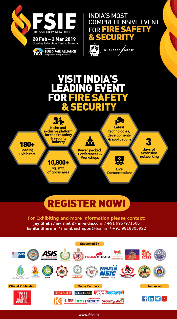Fire & Security India Expo | 28th February - 2nd March 2019